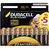 Duracell Plus Power Type AA Alkaline Battery - 20 Pack