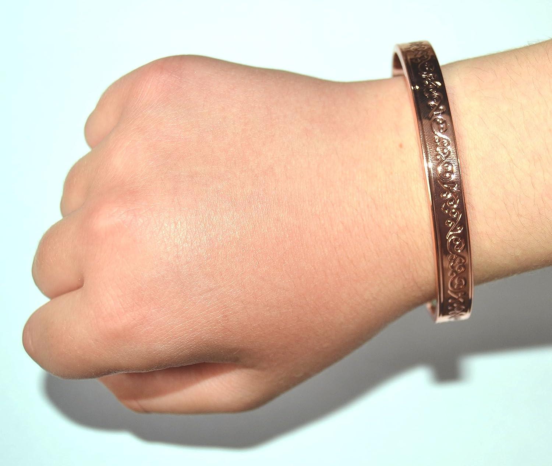 Amazon.com: Copper Bracelet For Arthritis; Magnetic Therapy (6 ...