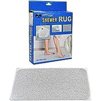 Anti Slip Loofah Shower Rug Bath Mat Carpet Water Drains Non Slip
