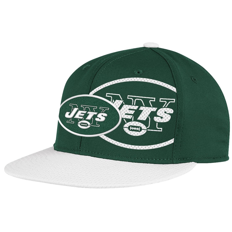 NFLニューヨークJetsエンドゾーン2 in 1フラットバイザーFlex Hat – tw80z XL グリーン B005E2LRRO