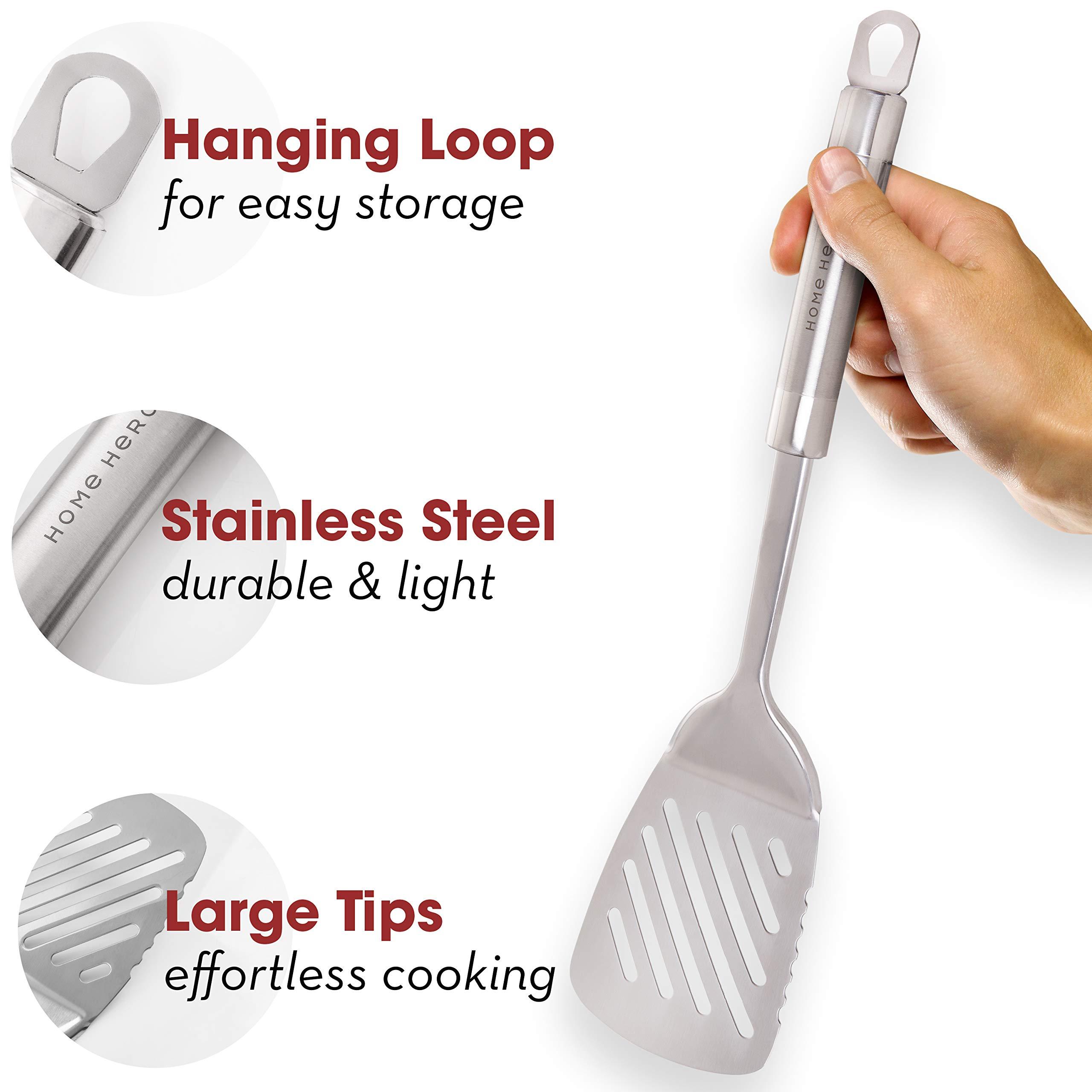 Stainless Steel Kitchen Utensil Set - 29 Cooking Utensils - Nonstick  Kitchen Utensils Cookware Set with Spatula - Best Kitchen Gadgets Kitchen  Tool