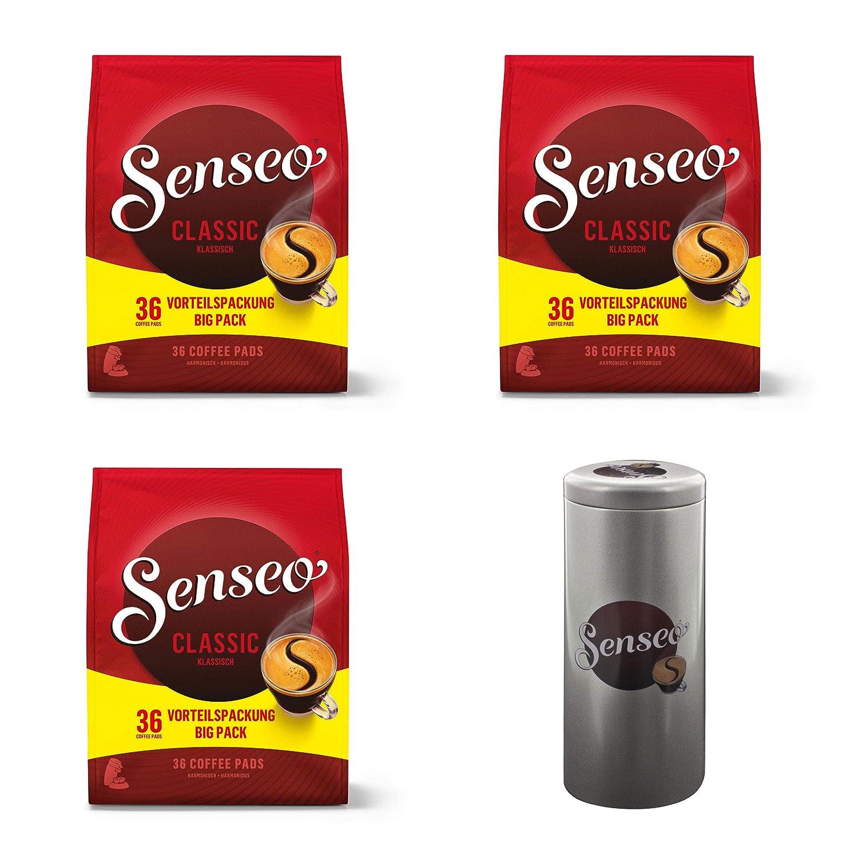 Senseo Classic - Cápsulas de café, Sabor Intenso y sólido, 108 ...