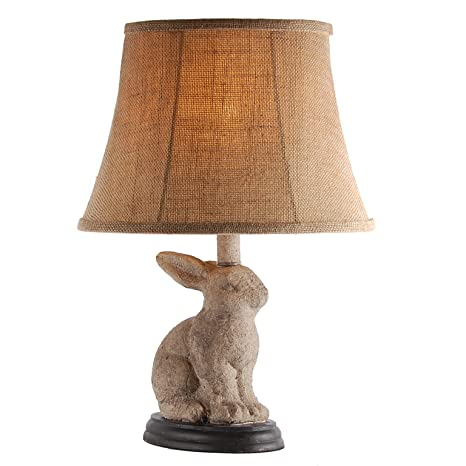 Bunny rabbit table lamp with distressed gray finish amazon bunny rabbit table lamp with distressed gray finish aloadofball Image collections