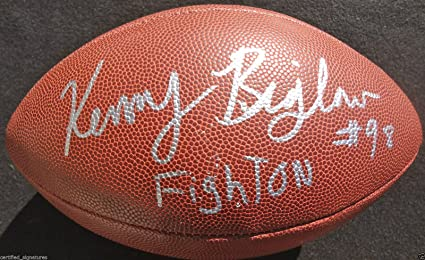 outlet store 6049c 67089 KENNY BIGELOW SIGNED NFL FOOTBALL USC TROJANS