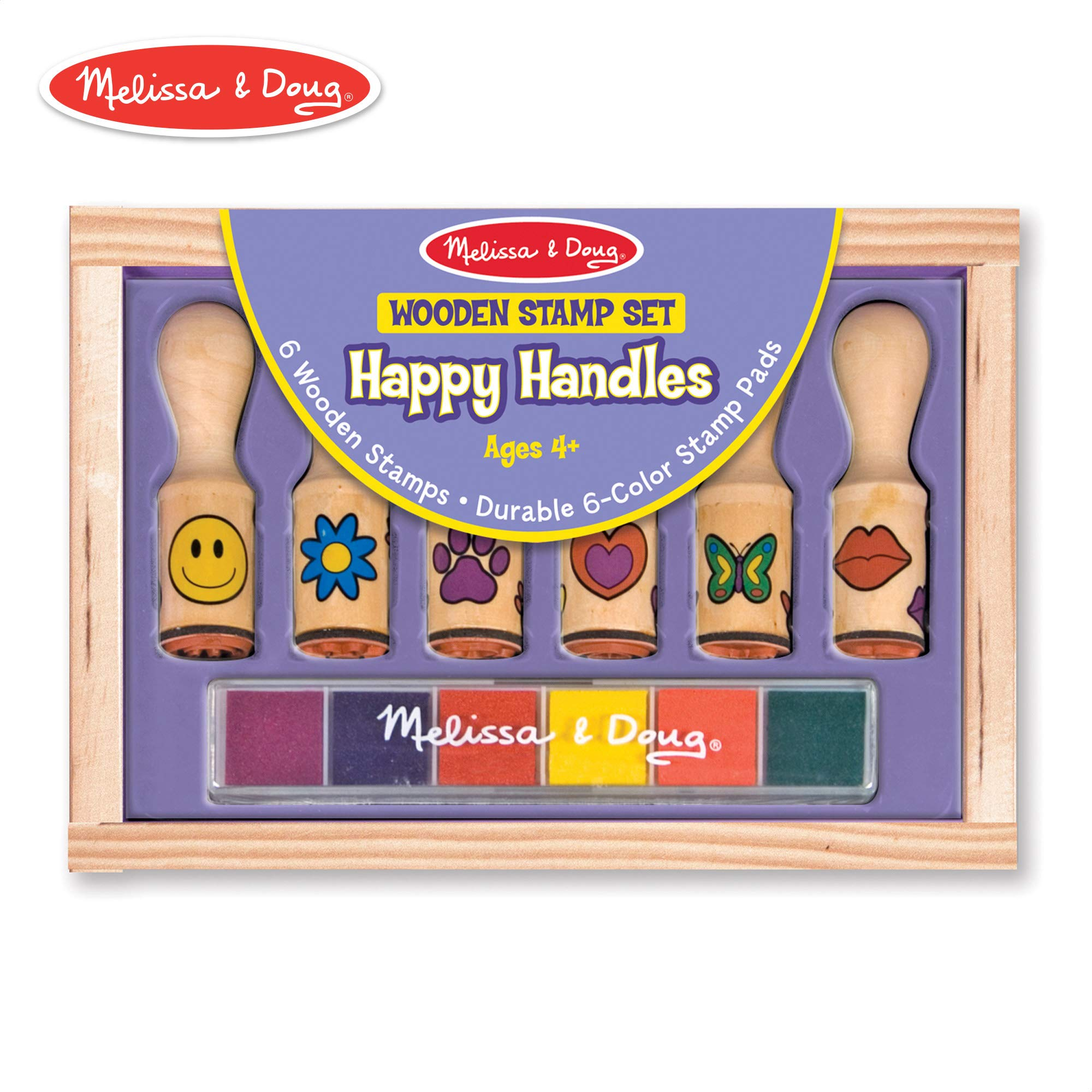 Melissa /& Doug Wooden Stamp Set Disney Princesses Arts /& Crafts, Sturdy Wooden Storage Box, Washable Ink, 17 Pieces, 8.75 H x 8 W x 1.5 L