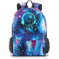 School Backpack,Cool Unisex Canvas Backpack Anime Luminous Backpack