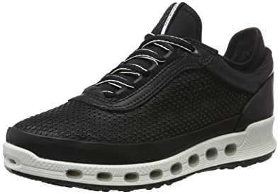 ECCO Women's Women's Cool 2.0 Gore-Tex Textile Fashion Sneaker, Black/Black,