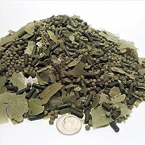 Aquatic Foods Inc. Gourmet Flake Blend - African Cichlid Mix Vegetable-Spirulina in Small Flakes,Bits, Pellets. GFB-300 1/4-lb
