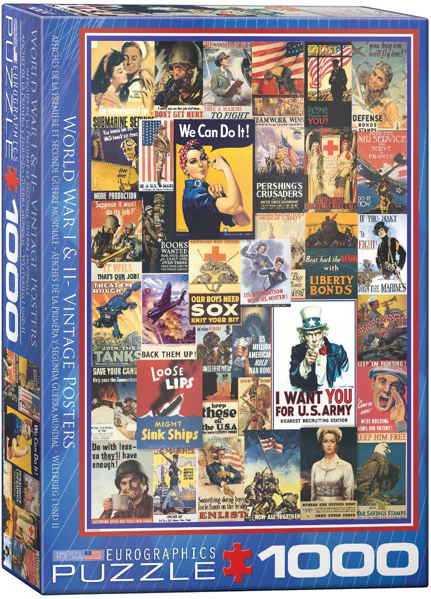EuroGraphics World War I /& II Vintage Posters 1000-Piece Puzzle Eurographics Toys 6000-0937