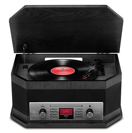 ION Audio Octave LP Ash Black - Centro musical retro 8 en 1 con reproducción por Bluetooth, color Negro: Amazon.es: Instrumentos musicales