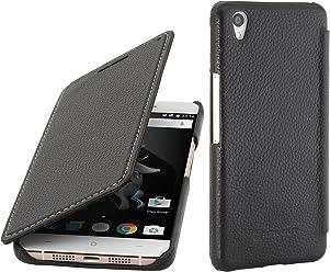 StilGut Book Type, housse en cuir avec fonction Smart Cover pour OnePlus X, en noir