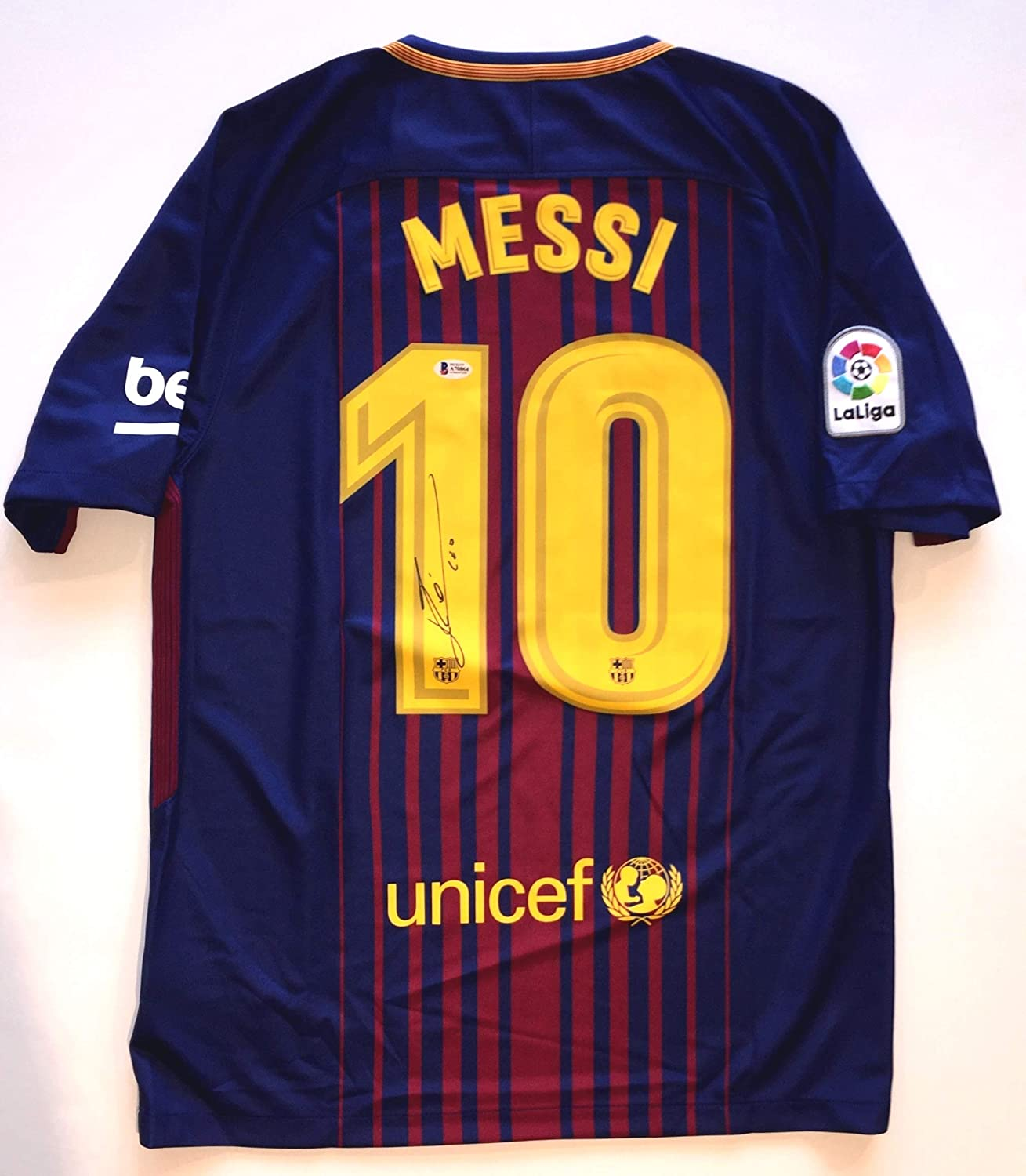 768491486e6 Lionel Messi Autographed FBC Barcelona Team Jersey - Beckett Authentication  BAS COA - (signed on back) at Amazon's Sports Collectibles Store
