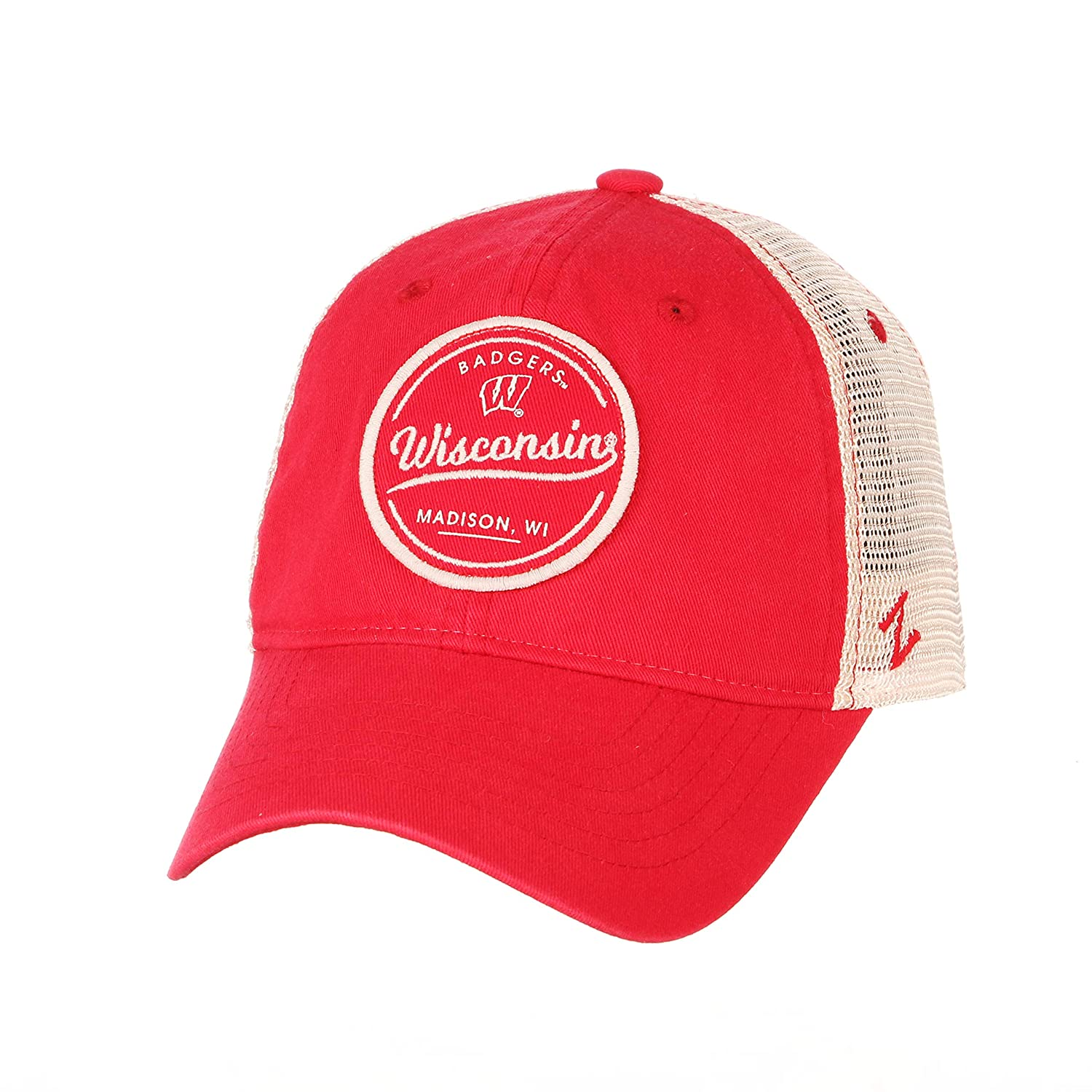 Primary Team Color NCAA Zephyr Wisconsin Badgers Mens Lager Relaxed Hat Adjustable