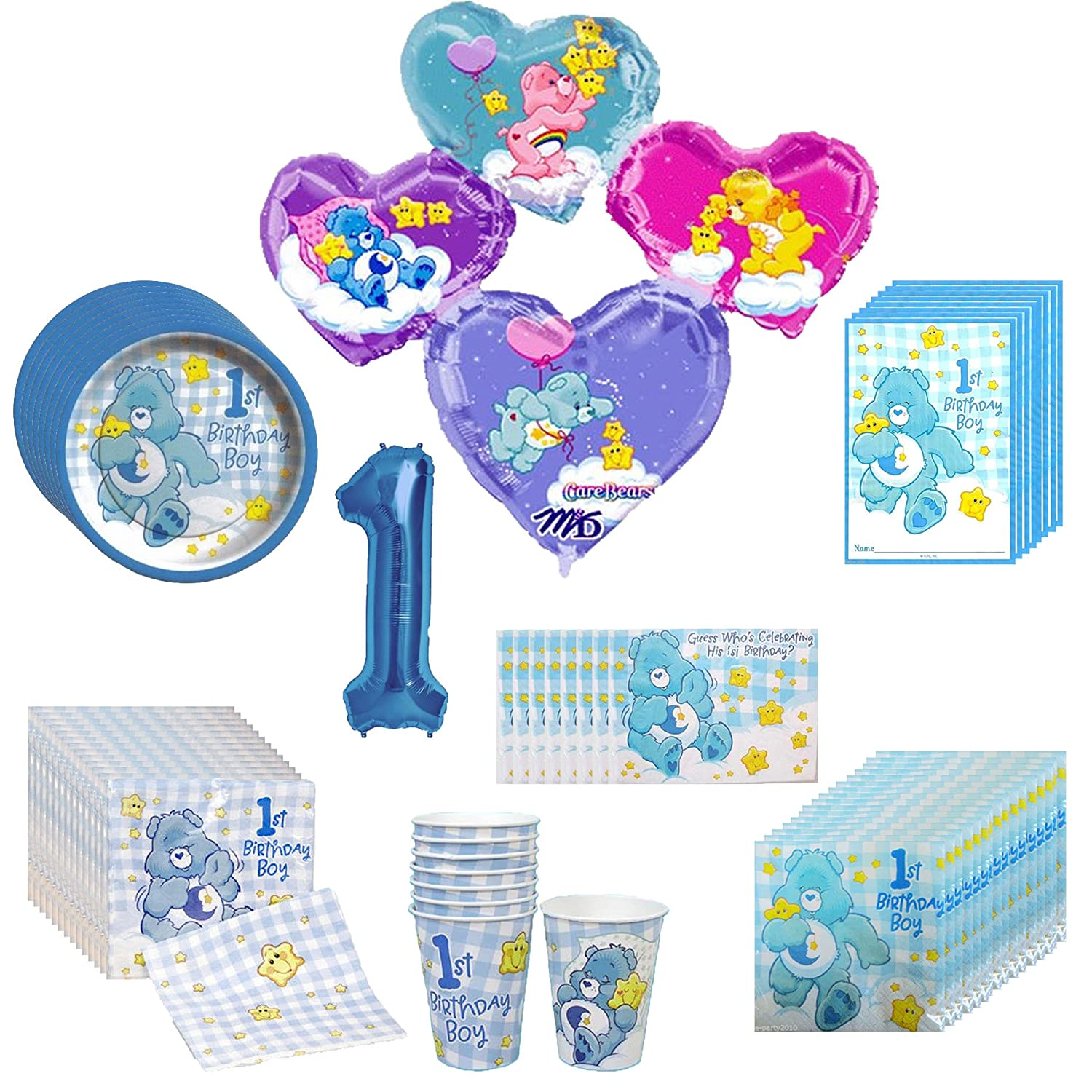 Amazon.com: Care Bears 1st Birthday Party Pack 66pc: Toys & Games
