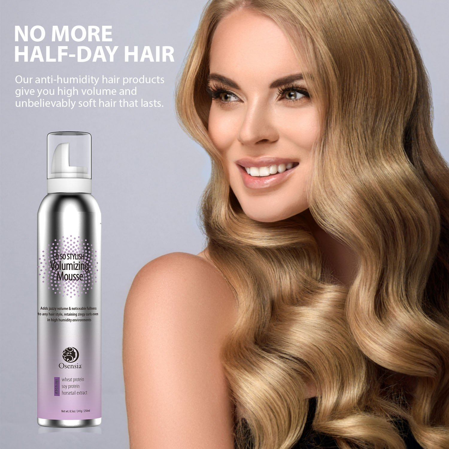 Major Volume Mousse - Anti-Humidity, Strong Hold, Touchable Natural Mousse  Hair Foam - Color