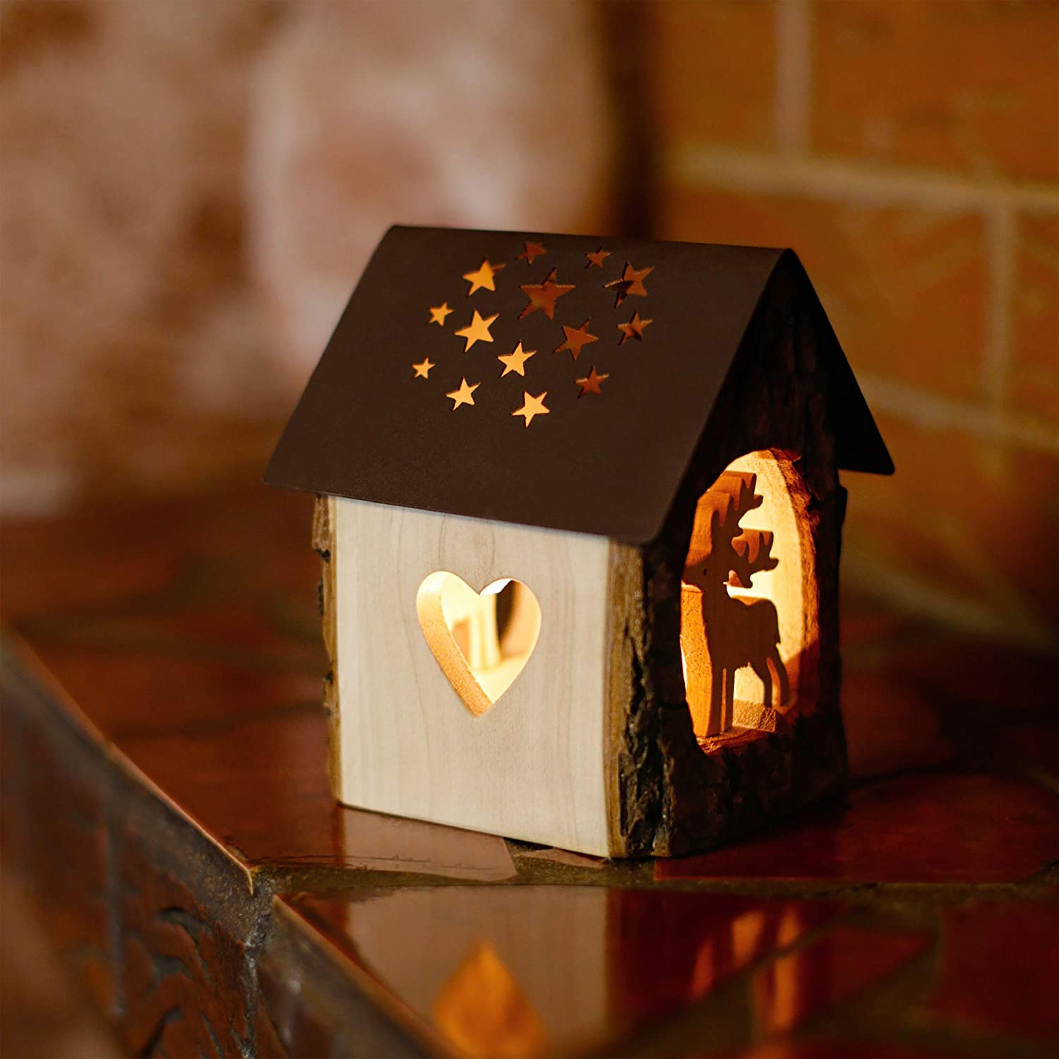 Rustic Decor Christmas Candle Holder Forest Decor Nativity Scene Tealight Candle Holder Holiday Decoration Handmade in Germany