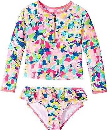 ff9d1f457a221 Amazon.com: Lilly Pulitzer Kids Baby Girl's UPF 50+ Mini Sydney Sunguard  (Toddler/Little Kids/Big Kids) Multi Pina Colada Club Swimsuit Top: Clothing