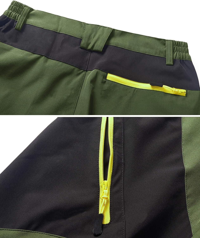 TACVASEN Pantalon dhiver en polaire extensible r/ésistant /à leau avec poche zipp/ée pour homme