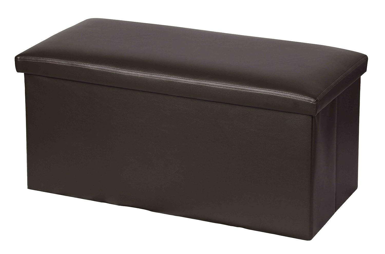 (Brown) - Home Basics Bench Storage Ottoman (Brown)  ブラウン B00XCPF80W