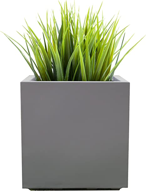 Amazon Com Modern Square Planter Large Outdoor Indoor Seeley