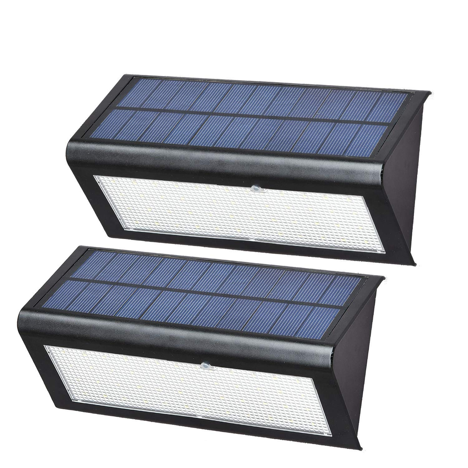 THINKIDEA 48 LED Solar Lights Outdoor,Super Bright 360 Radar Induction 4 Modes Switch Wireless Waterproof Solar Powered Security Lights for Wall Yard Garden Driveway Pathway Pool (Pack of 2) by THINKIDEA