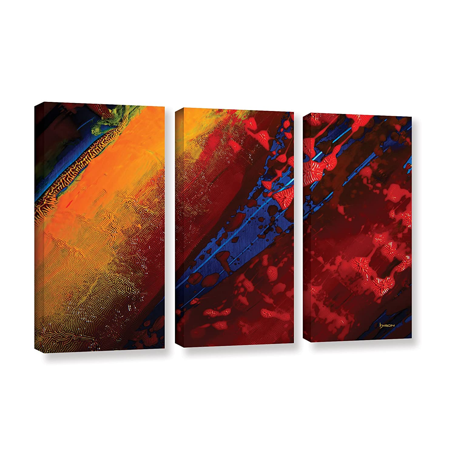 ArtWall 3 Piece Byron May's Out from The Depth Gallery Wrapped Canvas Set, 36 x 54'