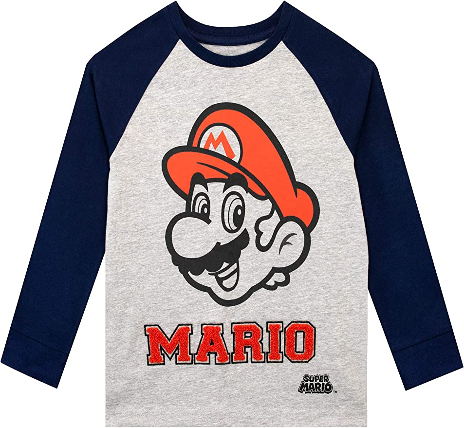 Boys Super Mario Long Sleeve Top, Ages 3 to 12 years