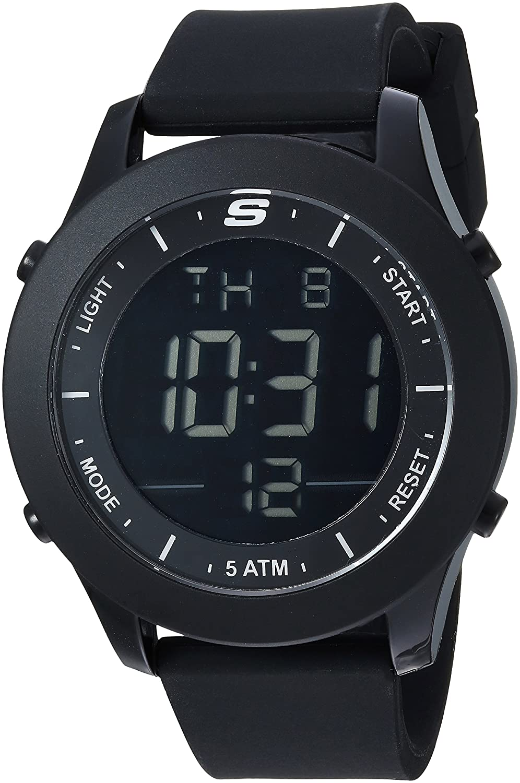 Amazon.com: Skechers Mens Rosencrans Digi Quartz Plastic and Silicone Digital Watch Color: Black (Model: SR5107): Watches