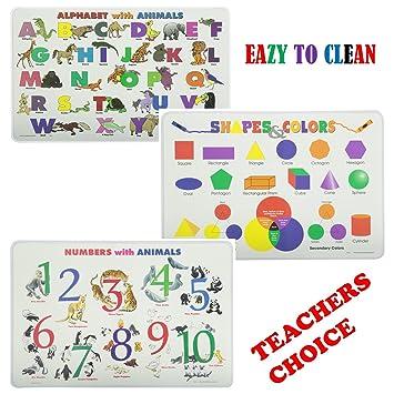 schmerzfreie lernen Platzdeckchen Sets Alphabet, Zahlen, Formen ...