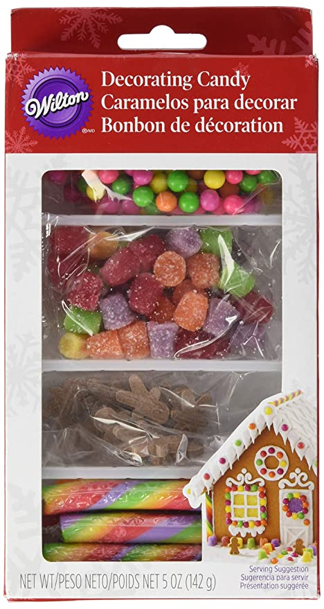 Christmas Gingerbread House Decorations.Wilton Christmas Gingerbread House Decorating Kit Brights Other Multicoloured