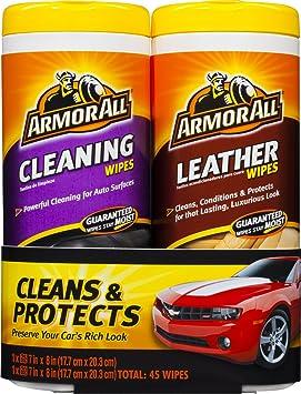 Armor All 82646 piel y toallitas de limpieza – 25 hojas (Pack de ...