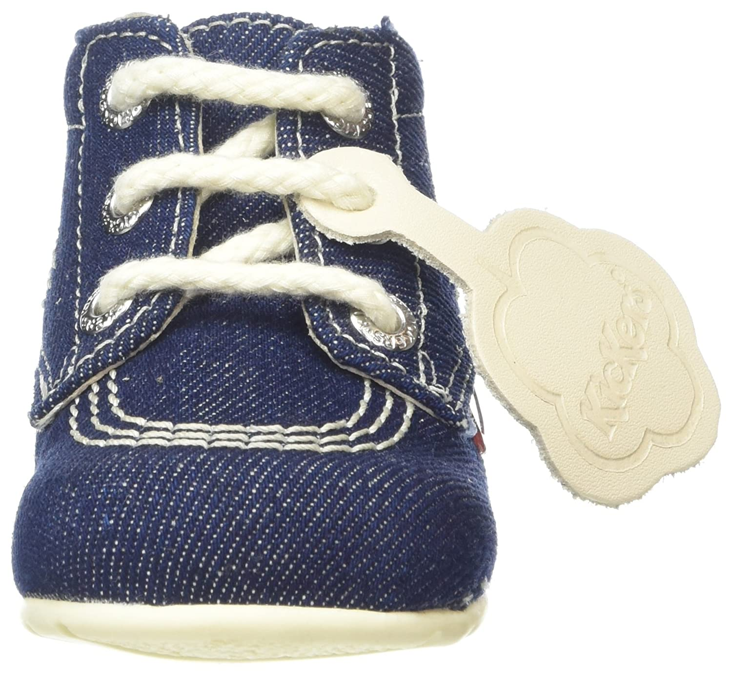 Amazon.com | Kickers Kick Hi B Dark Blue Textile Baby First Walkers Shoes | Shoes