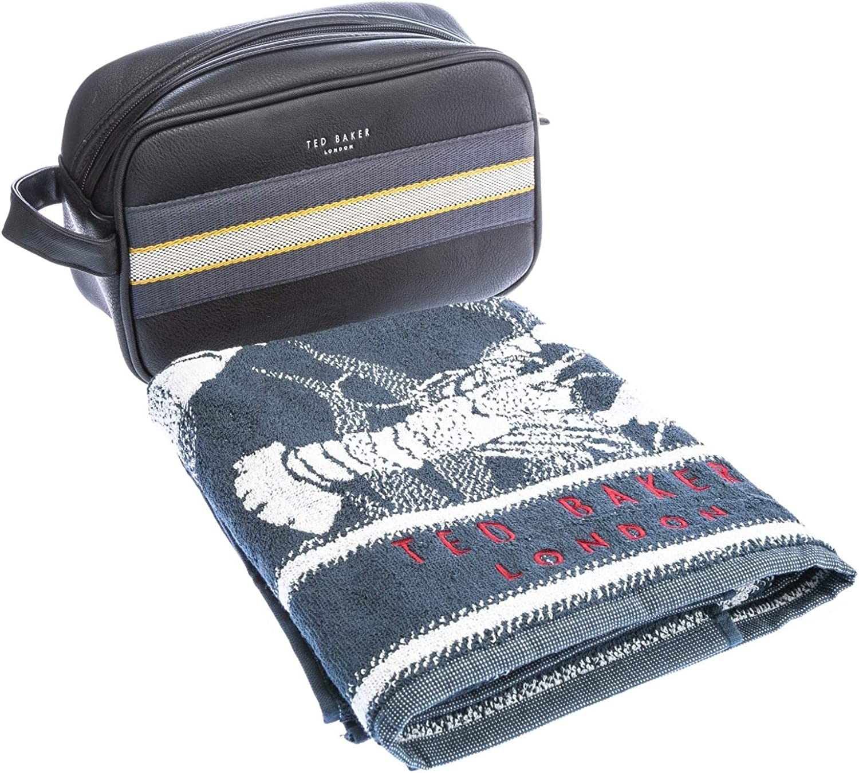 Ted Baker Washbag & Towel Gift Set in Black