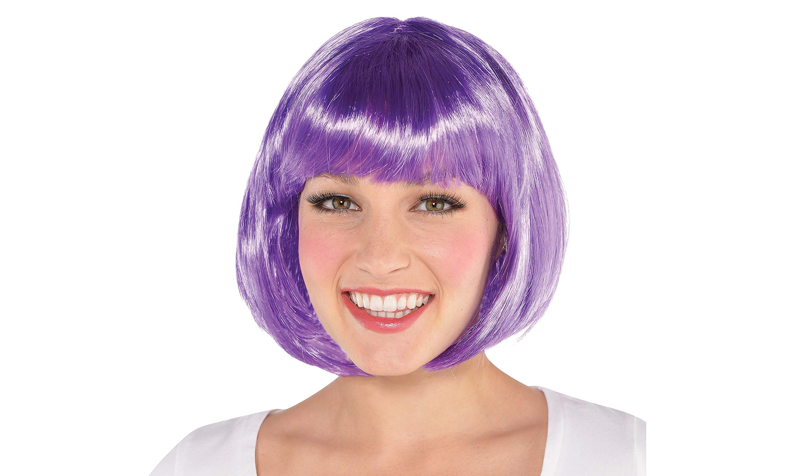 Amscan Bob Style Wig (Wigs and Adult Costume Accessories Plus Children Alike) Fun Party Supplies, Purple
