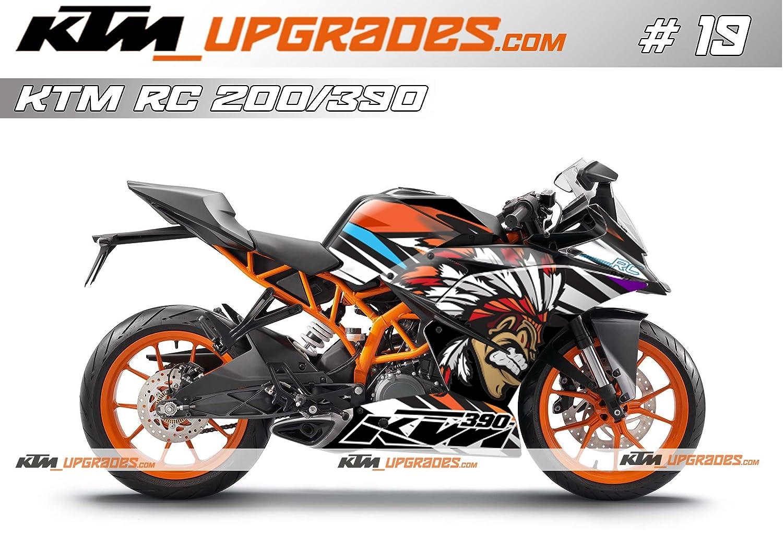 Ktmupgrades custom decal set 19 for ktm rc 125 200 390