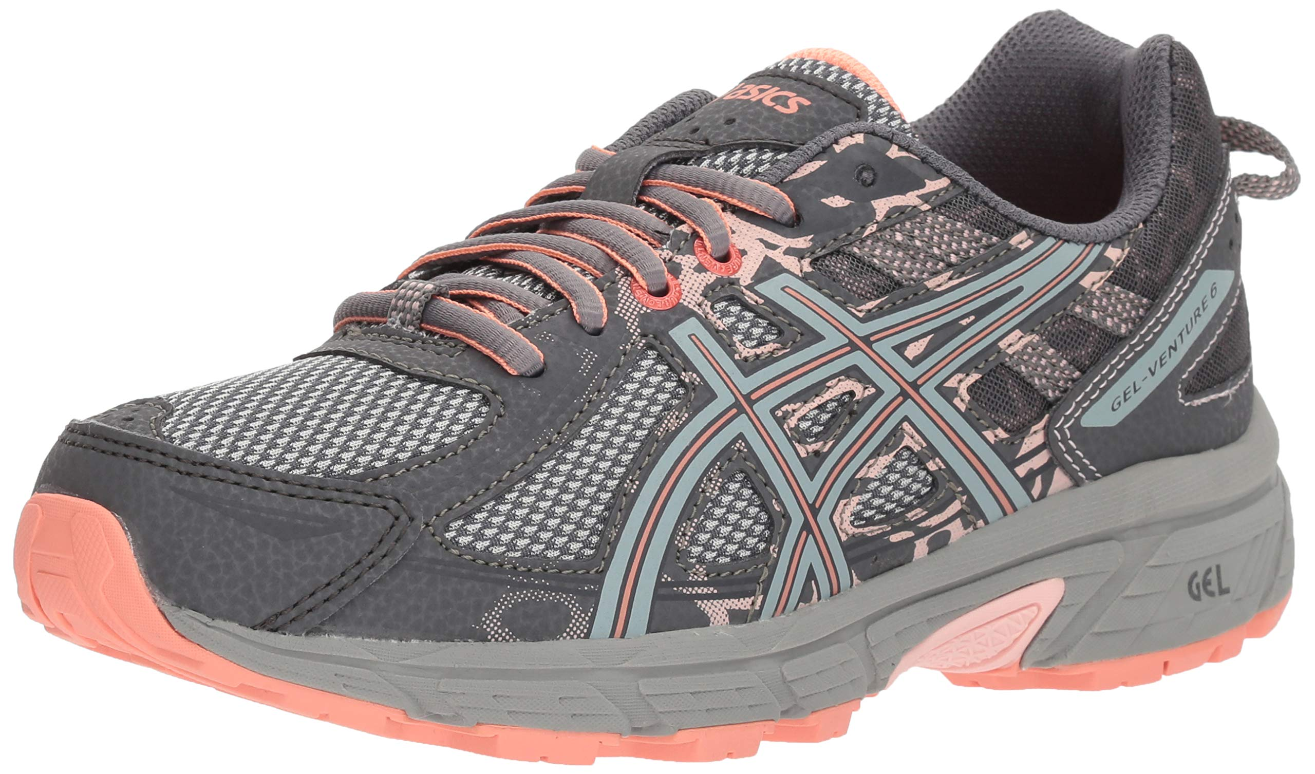 ASICS Gel-Venture 6 Women's Running Shoe, Carbon/Mid Grey/Seashell Pink, 7.5 M US by ASICS