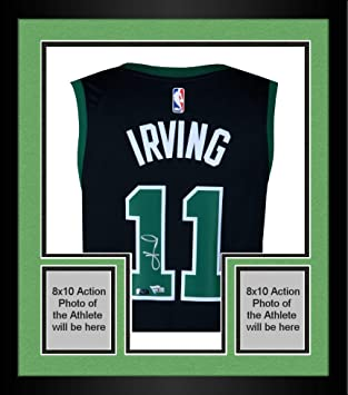 brand new ab3dc 9b17e Framed Kyrie Irving Boston Celtics Autographed Black ...