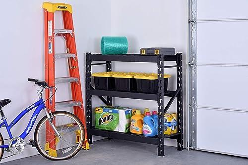 3-Shelf Welded Steel Garage Storage Shelving Unit