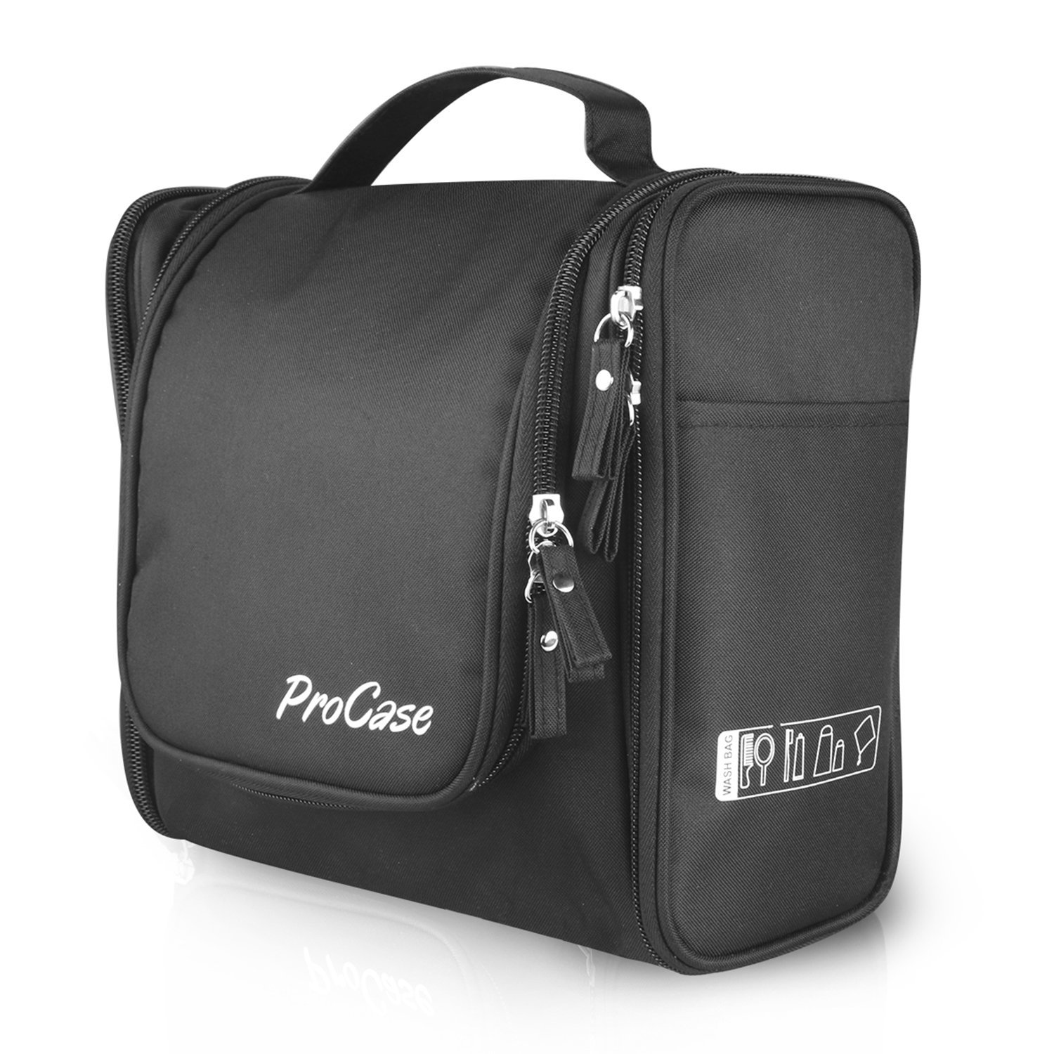 ProCase Toiletry Bag With Hanging Hook, Organizer For Travel Accessories,  Makeup, Shampoo,