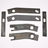 ECOTRIC 6 pc Frame Repair Rusted Shackle Weld Plates 1986-1995 Jeep Wrangler YJ Rear. with One Year Warranty