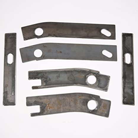 amazon com: ecotric 6 pc frame repair rusted shackle weld plates 1986-1995  jeep wrangler yj rear with one year warranty: automotive