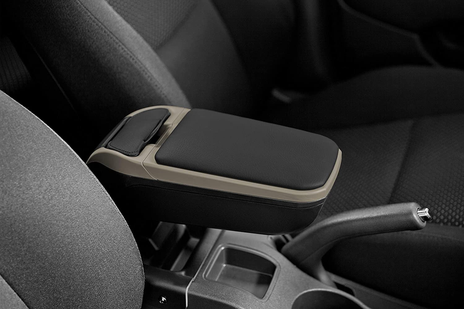 WITH STORAGE AND FOLDING Armster V01011 ARMREST BLACK//GREY CAR SPECIFIC SEAT IBIZA 2017 universal