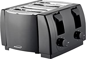 Brentwood TS-285 Cool Touch 4-Slice Toaster (Black)