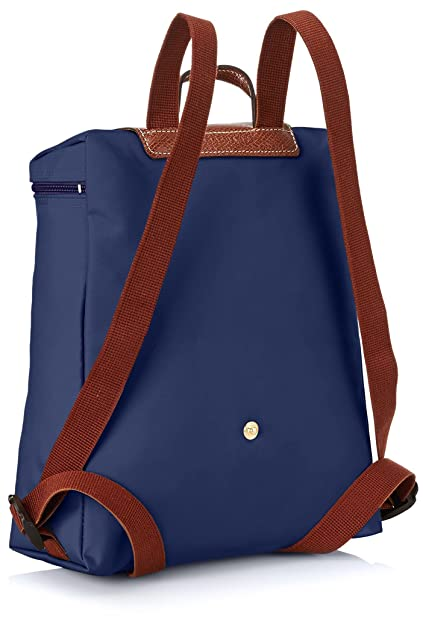 LongchampLe Pliage Backpack - Mochila Mujer, color azul, talla 23x40x55 cm (B x H x T): Amazon.es: Zapatos y complementos