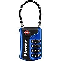 Master Lock Padlock, Set Your Own Combination TSA Accepted, 4697D