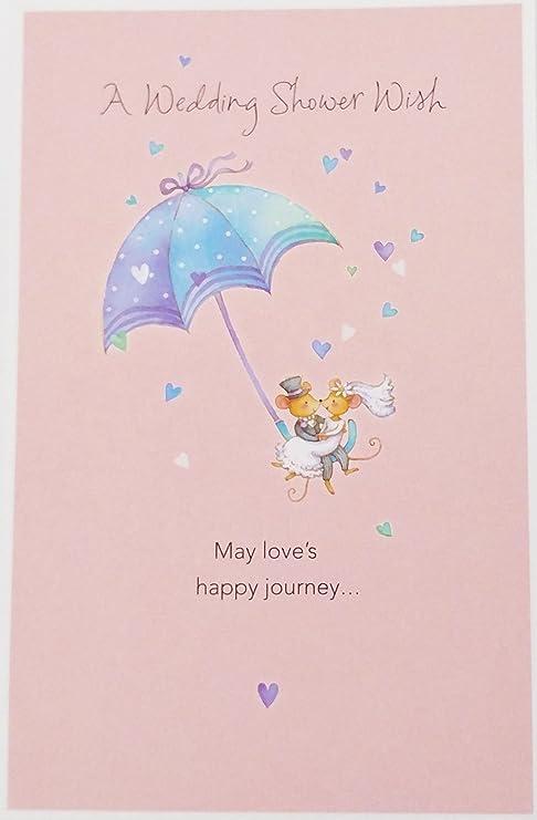 Amazon.com: Una boda ducha felicitaciones de deseos tarjeta ...