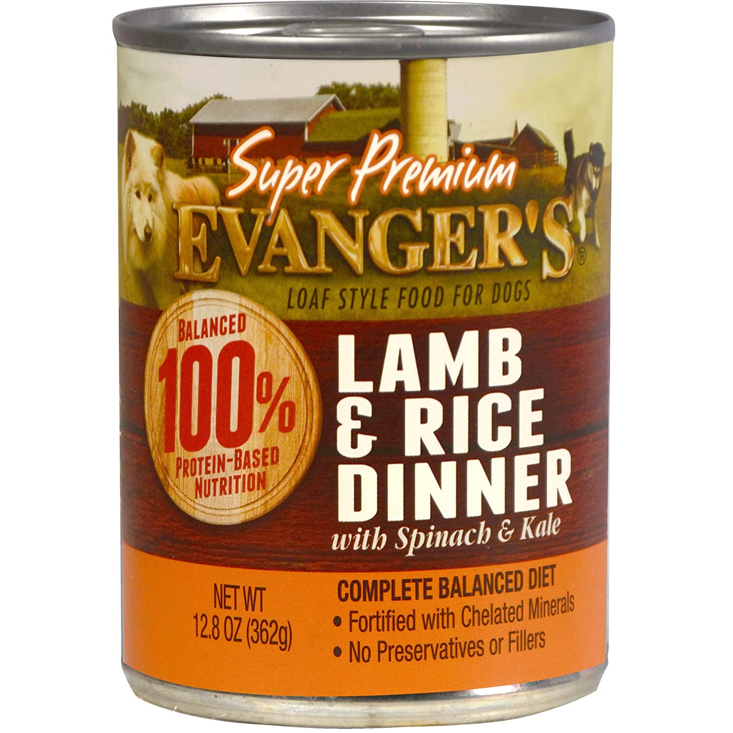 Evanger S Super Premium For Dogs Lamb And Rice Dinner, 12-Pack