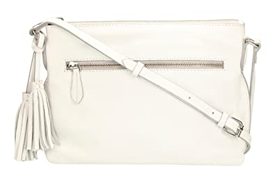 0cac45503cf Clarks Women's Tabley Park Shoulder Bag White White Leather: Amazon ...