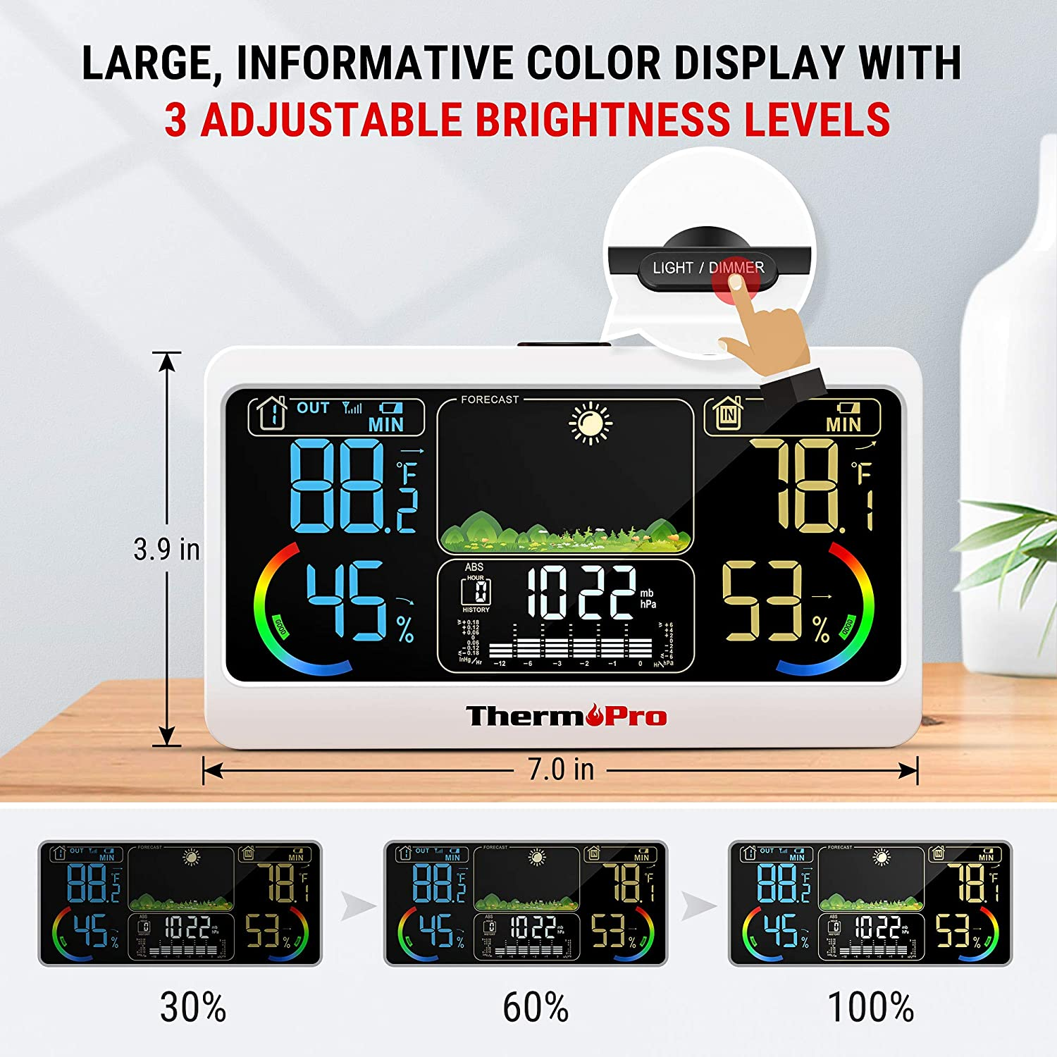 Patio, Lawn & Garden Weather Stations ghdonat.com ThermoPro TP68B ...