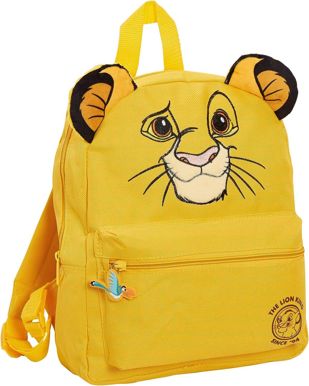 - MNCK13125 Sac /à Dos Disney Roi Lion 3D pour gar/çons et Filles Simba Jaune Jaune